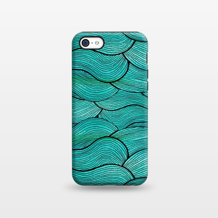 AC1338385, Phone Cases, iPhone 5C, StrongFit, Pom Graphic Design, Sea Waves Pattern, Designers,