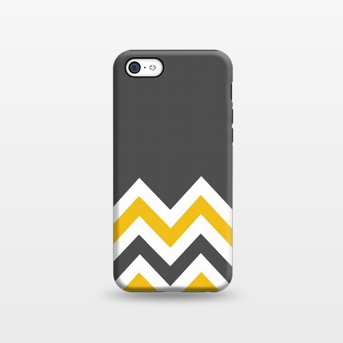 AC1338392, Phone Cases, iPhone 5C, StrongFit, Josie Steinfort , Color Blocked Chevron Mustard Gray, Designers,