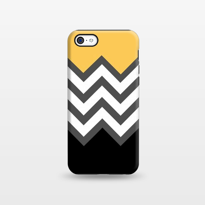 Color Blocked Chevron Black Yellow