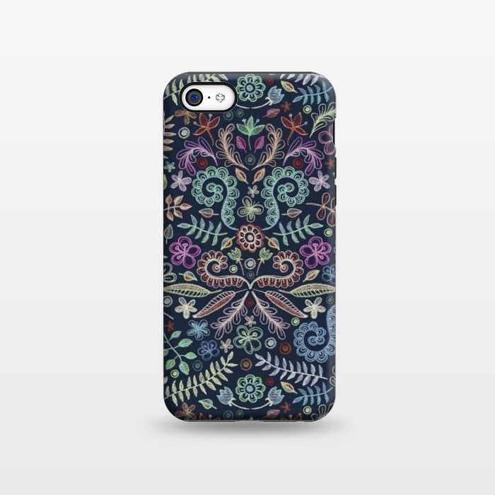AC1338510, Phone Cases, iPhone 5C, StrongFit, Micklyn Le Feuvre, Colored Chalk Floral Doodle Pattern, Designers,