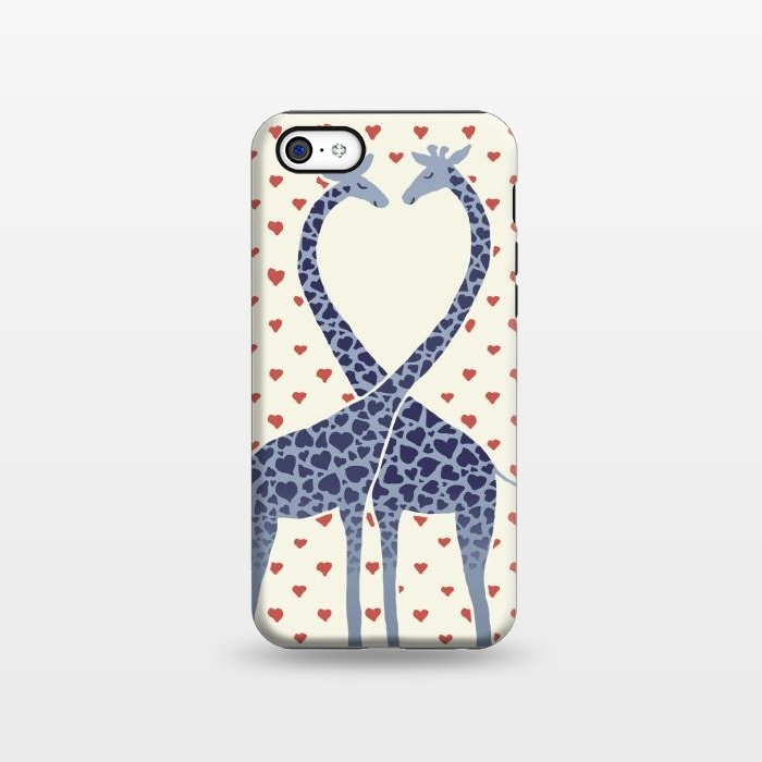 AC1338511, Phone Cases, iPhone 5C, StrongFit, Micklyn Le Feuvre, Giraffes in Love a Valentine's Day illustration, Designers,