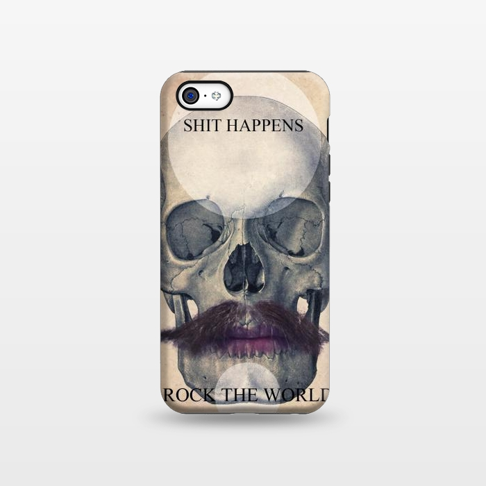 AC1338636, Phone Cases, iPhone 5C, StrongFit, Diego Tirigall, SKULL ROCK THE WORLD OK, Designers,