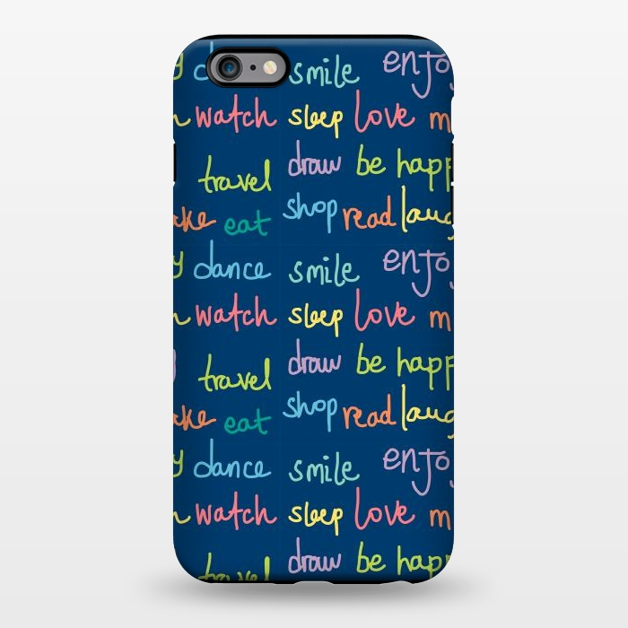 AC1344232, Phone Cases, iPhone 6/6s plus, StrongFit, MaJoBV, Happy Typo, Designers,