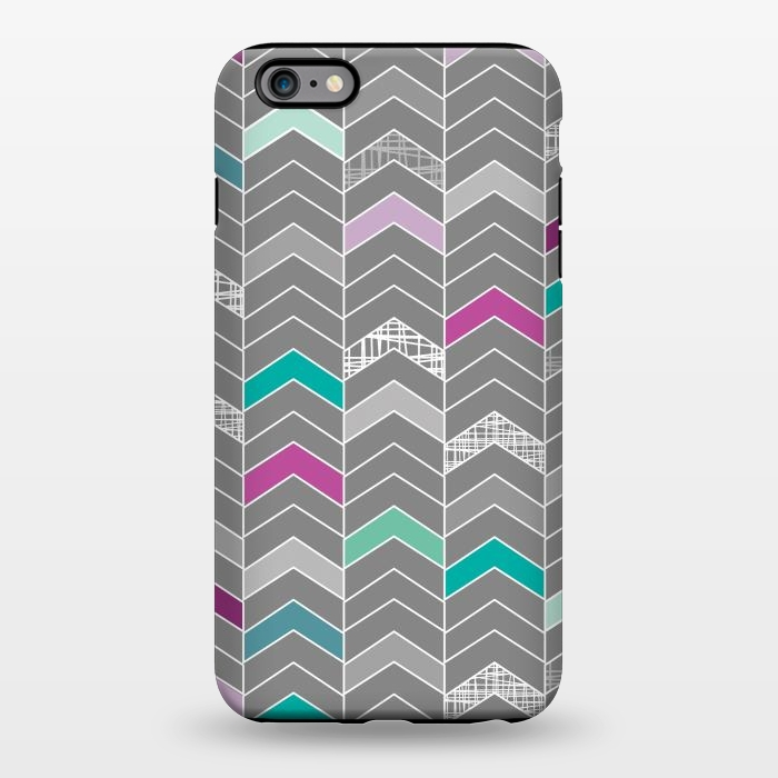 AC1344286, Phone Cases, iPhone 6/6s plus, StrongFit, Rosie Simons, Chevron Grey, Designers,