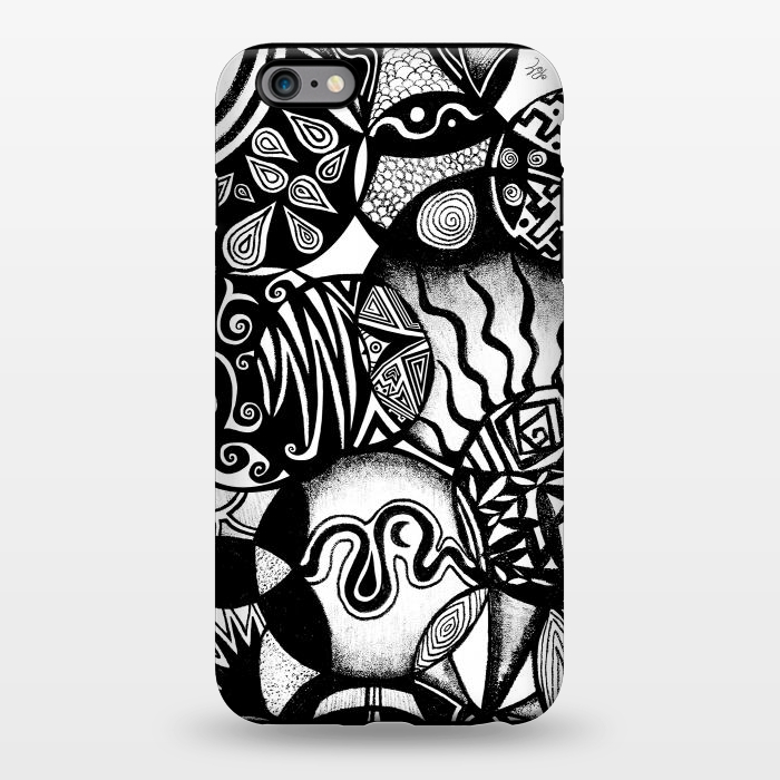 AC1344383, Phone Cases, iPhone 6/6s plus, StrongFit, Pom Graphic Design, Circles and Life, Designers,