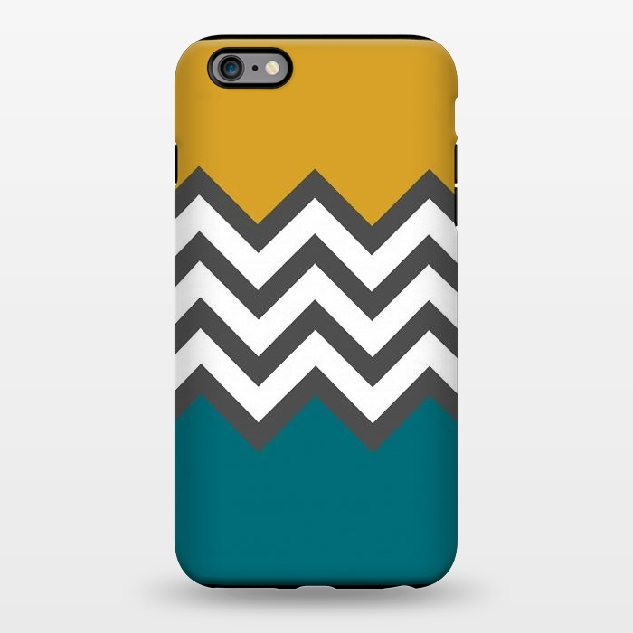 AC1344391, Phone Cases, iPhone 6/6s plus, StrongFit, Josie Steinfort , Color Blocked Chevron Mustard, Designers,