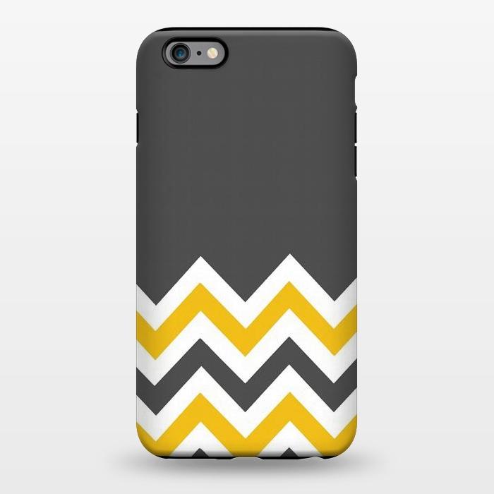 AC1344392, Phone Cases, iPhone 6/6s plus, StrongFit, Josie Steinfort , Color Blocked Chevron Mustard Gray, Designers,