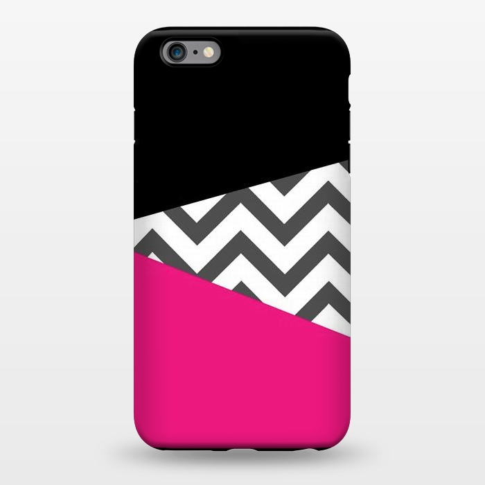 AC1344395, Phone Cases, iPhone 6/6s plus, StrongFit, Josie Steinfort , Color Blocked Chevron Black Pink , Designers,