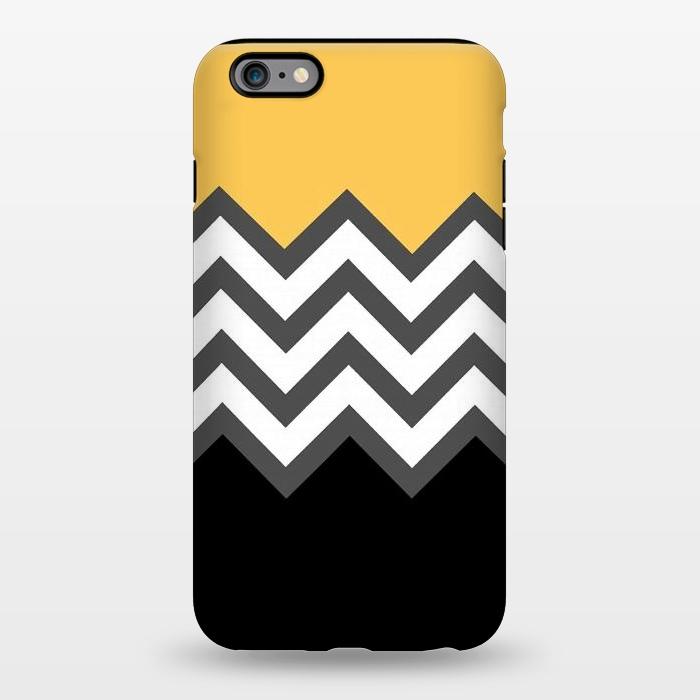 AC1344396, Phone Cases, iPhone 6/6s plus, StrongFit, Josie Steinfort , Color Blocked Chevron Black Yellow, Designers,