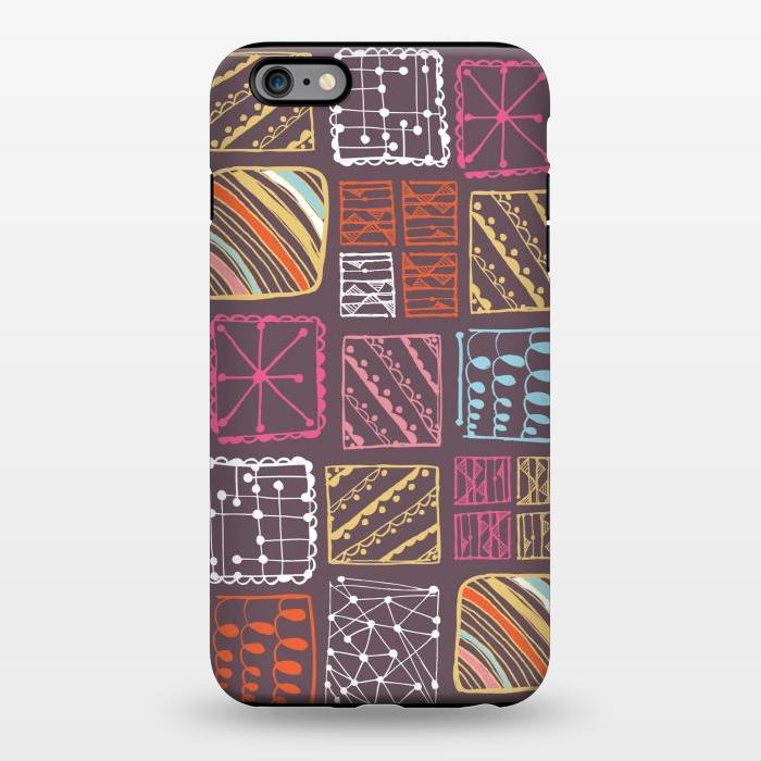 AC1344501, Phone Cases, iPhone 6/6s plus, StrongFit, Rachael Taylor, Doodle Squares, Designers,