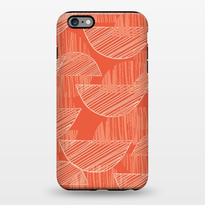 AC1344508, Phone Cases, iPhone 6/6s plus, StrongFit, Rachael Taylor, Orange Arcs, Designers,