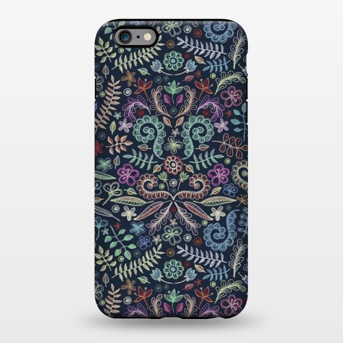 AC1344510, Phone Cases, iPhone 6/6s plus, StrongFit, Micklyn Le Feuvre, Colored Chalk Floral Doodle Pattern, Designers,
