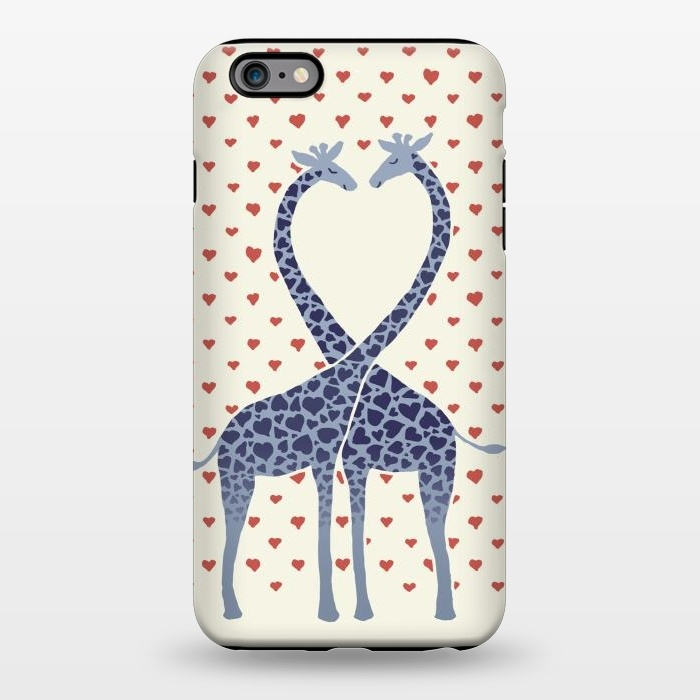 AC1344511, Phone Cases, iPhone 6/6s plus, StrongFit, Micklyn Le Feuvre, Giraffes in Love a Valentine's Day illustration, Designers,