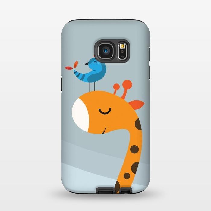 AC1345168, Phone Cases, Galaxy S7, StrongFit, Volkan Dalyan, Orange, Designers,