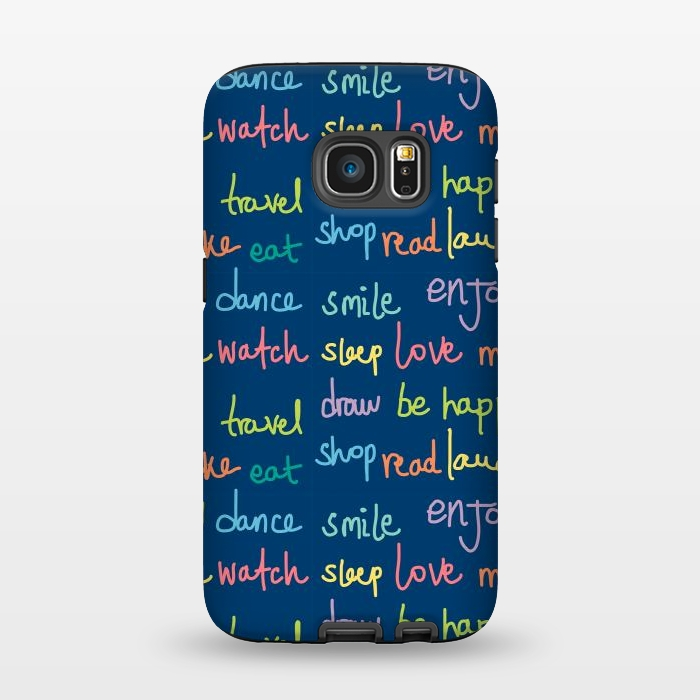 AC1345232, Phone Cases, Galaxy S7, StrongFit, MaJoBV, Happy Typo, Designers,