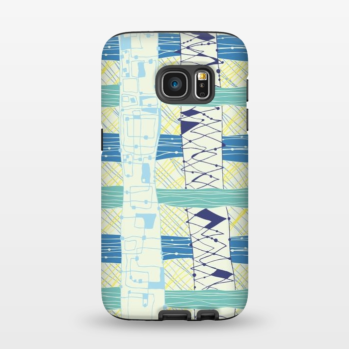 AC1345233, Phone Cases, Galaxy S7, StrongFit, MaJoBV, Doodled Check, Designers,
