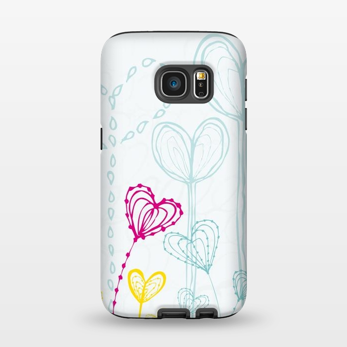 AC1345235, Phone Cases, Galaxy S7, StrongFit, MaJoBV, Love Garden  White, Designers,