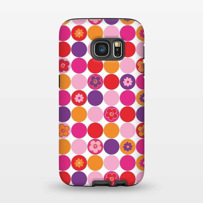 AC1345250, Phone Cases, Galaxy S7, StrongFit, Julia Grifol, Spring Circles, Designers,