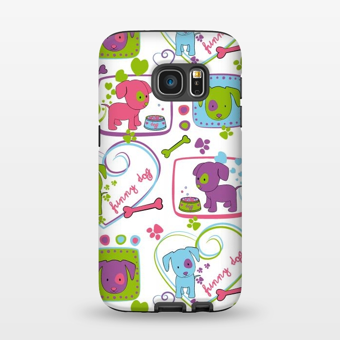 AC1345252, Phone Cases, Galaxy S7, StrongFit, Julia Grifol, My Loving Dogs, Designers,