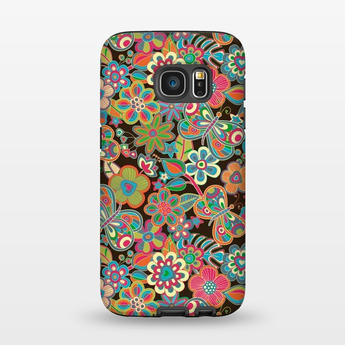 AC1345253, Phone Cases, Galaxy S7, StrongFit, Julia Grifol, My Butterflies and Flowers, Designers,