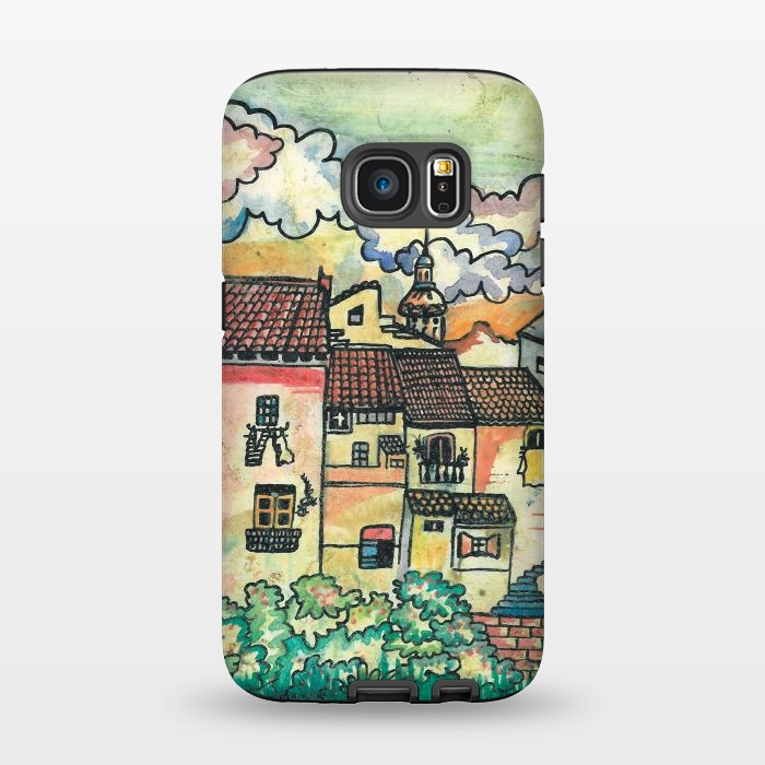 AC1345257, Phone Cases, Galaxy S7, StrongFit, Julia Grifol, A Spanish Village, Designers,