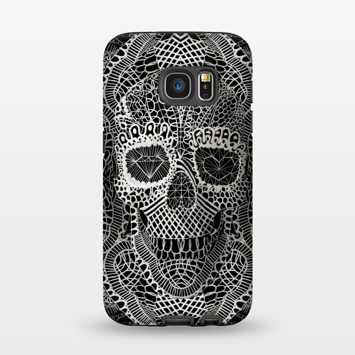 AC1345277, Phone Cases, Galaxy S7, StrongFit, Ali Gulec, Lace Skull, Designers,