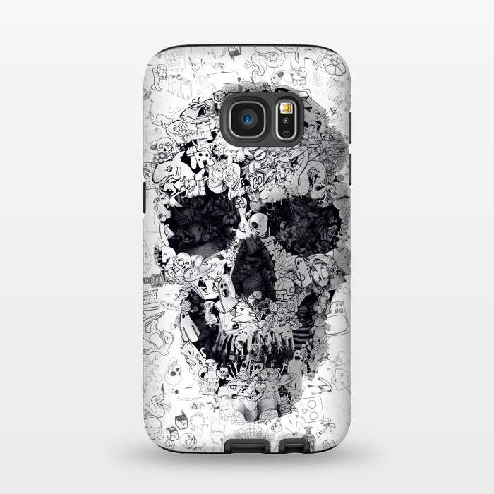 AC1345279, Phone Cases, Galaxy S7, StrongFit, Ali Gulec, Doodle Bw, Designers,