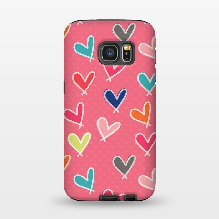 AC1345282, Phone Cases, Galaxy S7, StrongFit, Rosie Simons, Pink Blow Me One Last Kiss, Designers,