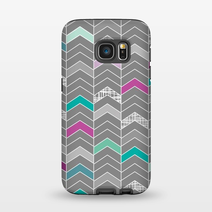 AC1345286, Phone Cases, Galaxy S7, StrongFit, Rosie Simons, Chevron Grey, Designers,