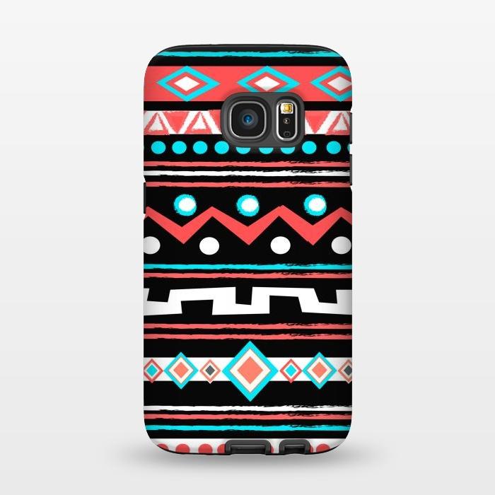 AC1345334, Phone Cases, Galaxy S7, StrongFit, Nika Martinez, Black Tipi, Designers,