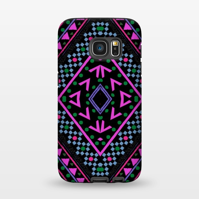 AC1345336, Phone Cases, Galaxy S7, StrongFit, Nika Martinez, Neon Pattern, Designers,