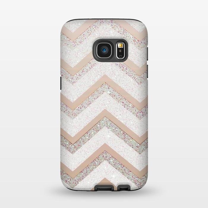 AC1345351, Phone Cases, Galaxy S7, StrongFit, Monika Strigel, Nude Chevron, Designers,