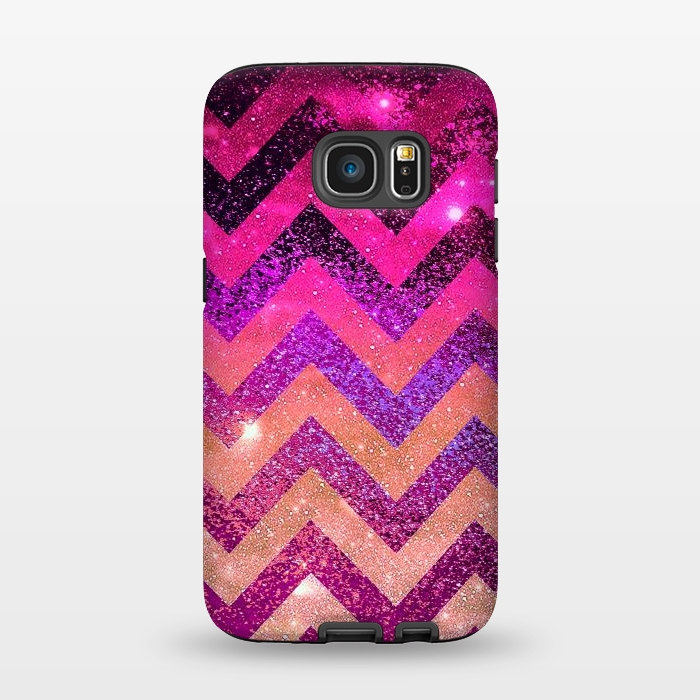 AC1345353, Phone Cases, Galaxy S7, StrongFit, Monika Strigel, Chevron Water Galaxy, Designers,