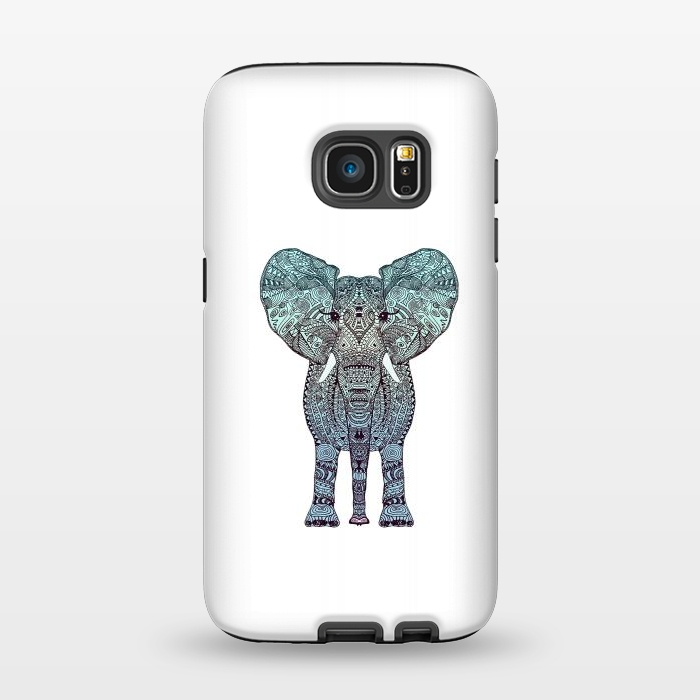 AC1345355, Phone Cases, Galaxy S7, StrongFit, Monika Strigel, Elephant Blue, Designers,
