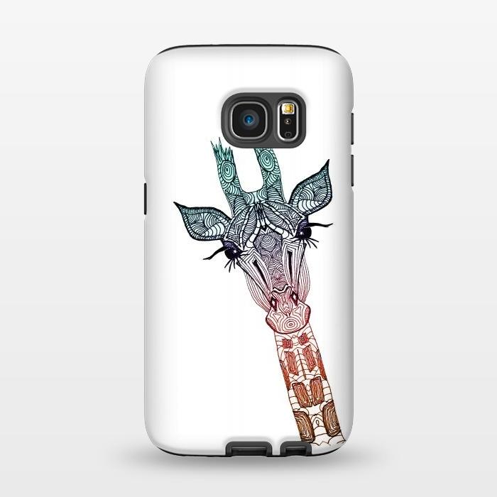AC1345356, Phone Cases, Galaxy S7, StrongFit, Monika Strigel, Giraffe Teal, Designers,