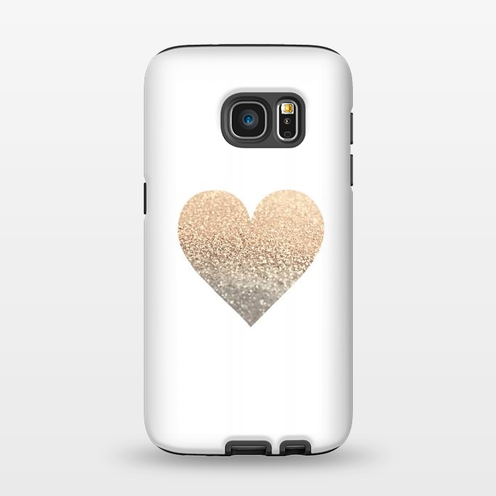 AC1345358, Phone Cases, Galaxy S7, StrongFit, Monika Strigel, Gatsby Gold Heart, Designers,