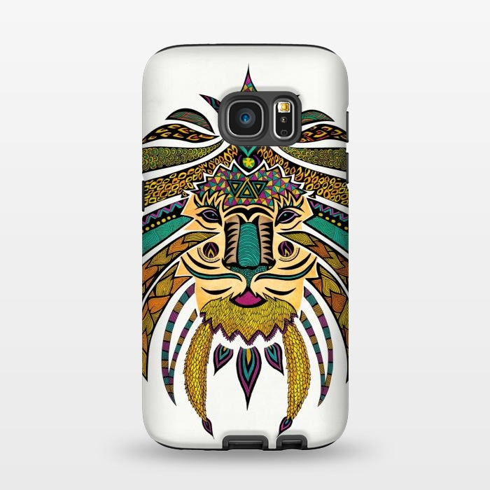 AC1345381, Phone Cases, Galaxy S7, StrongFit, Pom Graphic Design, Emperor Tribal Lion, Designers,