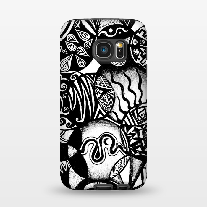 AC1345383, Phone Cases, Galaxy S7, StrongFit, Pom Graphic Design, Circles and Life, Designers,