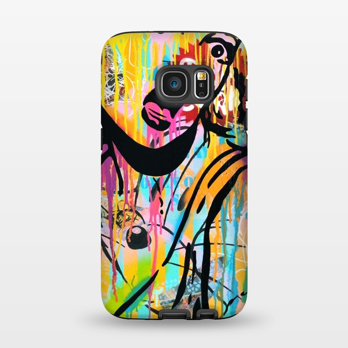 AC1345431, Phone Cases, Galaxy S7, StrongFit, Scott Hynd, Surprise kitty cat by Scott Hynd, Designers,