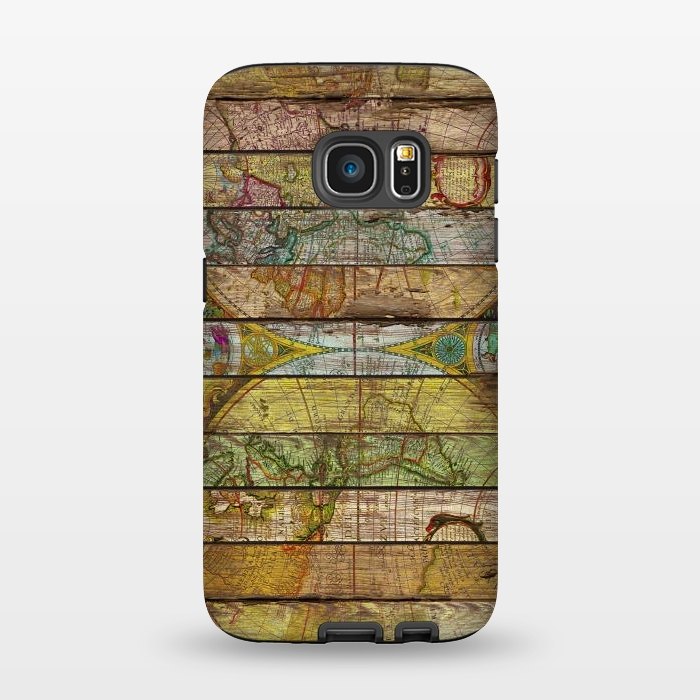 AC1345464, Phone Cases, Galaxy S7, StrongFit, Diego Tirigall, AROUND THE WORLD IN THIRTEEN MAPS, Designers,