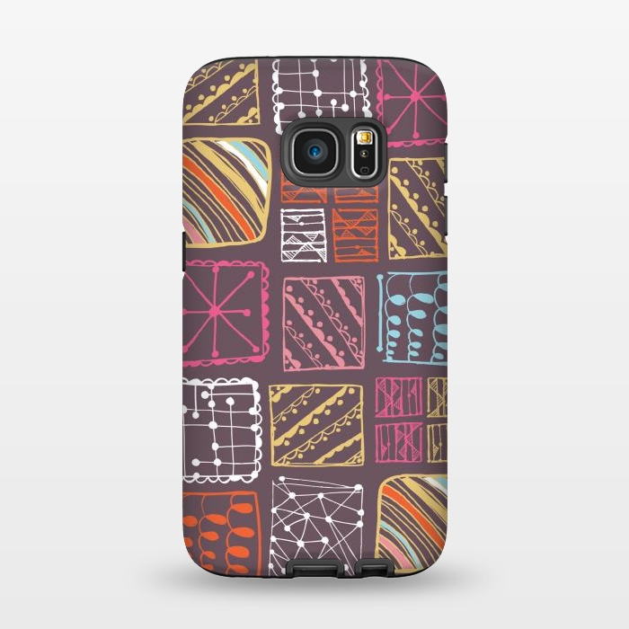 AC1345501, Phone Cases, Galaxy S7, StrongFit, Rachael Taylor, Doodle Squares, Designers,