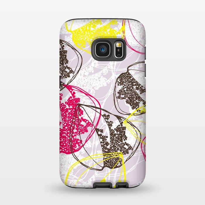 AC1345506, Phone Cases, Galaxy S7, StrongFit, Rachael Taylor, Organic Retro Leaves, Designers,