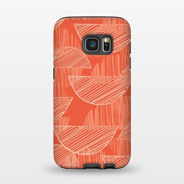 AC1345508, Phone Cases, Galaxy S7, StrongFit, Rachael Taylor, Orange Arcs, Designers,