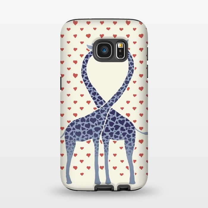 AC1345511, Phone Cases, Galaxy S7, StrongFit, Micklyn Le Feuvre, Giraffes in Love a Valentine's Day illustration, Designers,