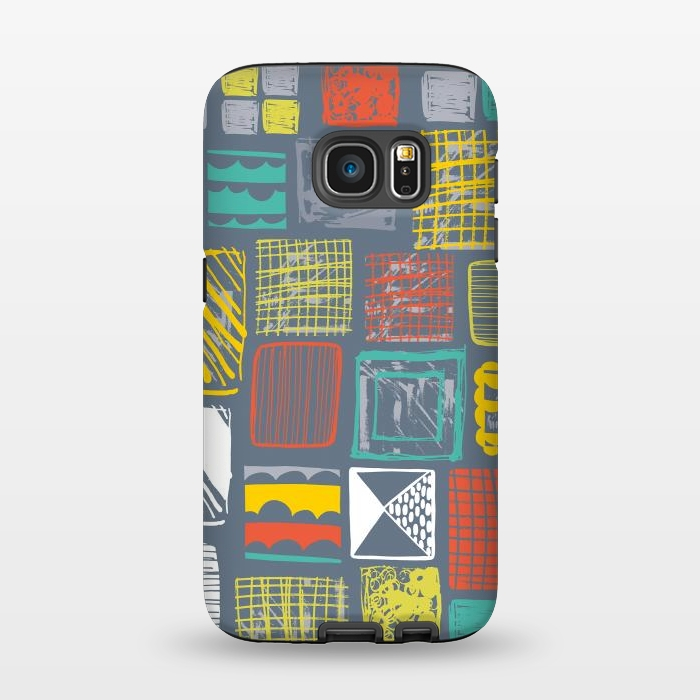 AC1345550, Phone Cases, Galaxy S7, StrongFit, Rachael Taylor, Square Metropolis Leaves, Designers,