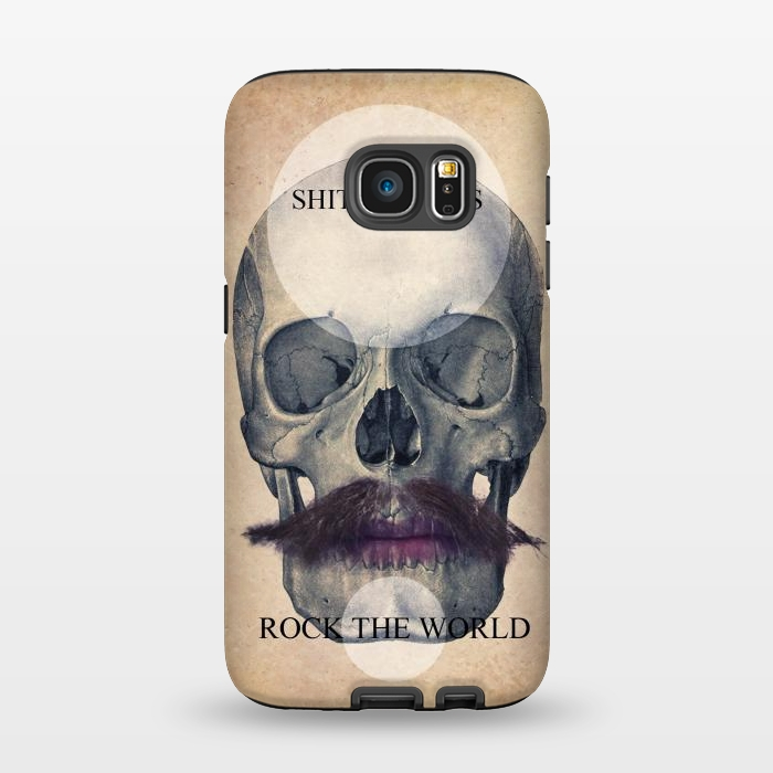 AC1345636, Phone Cases, Galaxy S7, StrongFit, Diego Tirigall, SKULL ROCK THE WORLD OK, Designers,