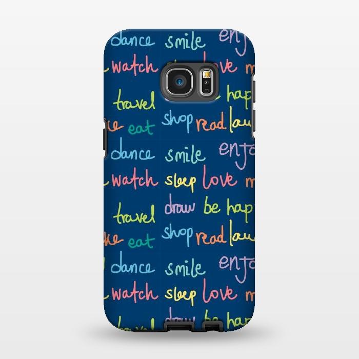 AC1346232, Phone Cases, Galaxy S7 EDGE, StrongFit, MaJoBV, Happy Typo, Designers,