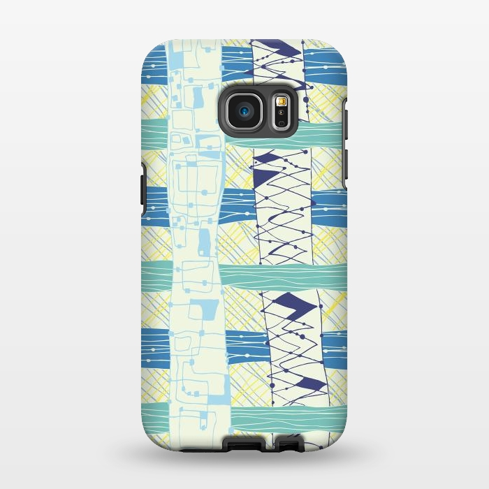 AC1346233, Phone Cases, Galaxy S7 EDGE, StrongFit, MaJoBV, Doodled Check, Designers,