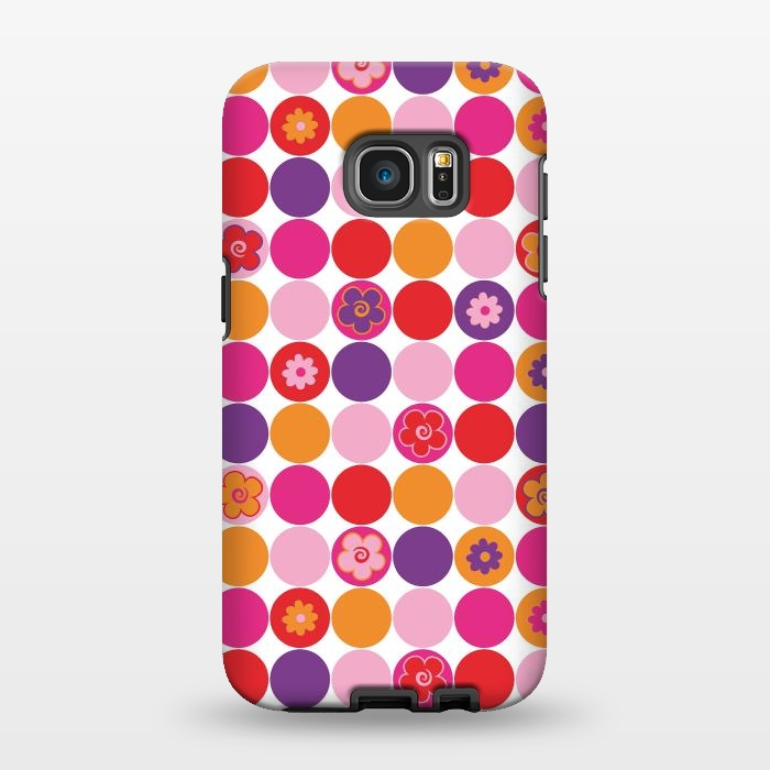 AC1346250, Phone Cases, Galaxy S7 EDGE, StrongFit, Julia Grifol, Spring Circles, Designers,