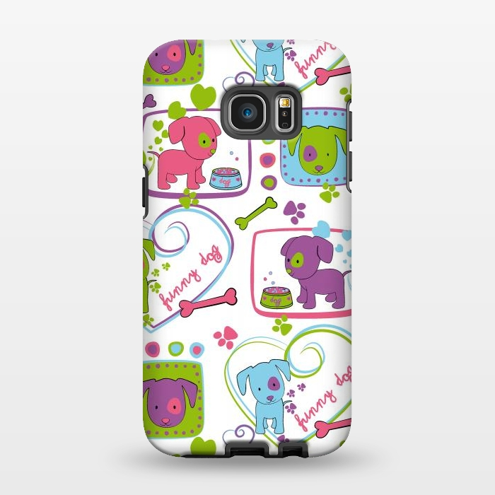 AC1346252, Phone Cases, Galaxy S7 EDGE, StrongFit, Julia Grifol, My Loving Dogs, Designers,